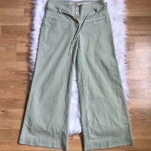Elevenses 4 Green White Seersucker Trousers